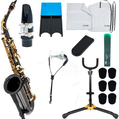 Thomann TAS-180 Black Alto Sax Set