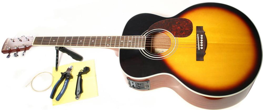 thomann online guides changing strings acoustic guitar guitar strings thomann united states. Black Bedroom Furniture Sets. Home Design Ideas