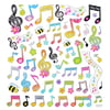 Music Sales Stickers:Floral Notes And Clef