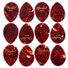 Fender Pick Set Teardrop 354 Heavy