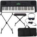Yamaha PSR-E360 Black Deluxe Bundle