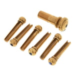 Harley Benton Parts Bridgepin Set Brass AEye
