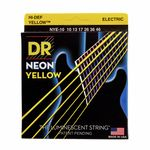 DR Strings HiDef Neon Yellow Medium NYE10
