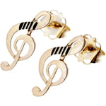 Rockys Stud Earrings Treble Clef G