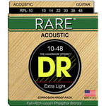 DR Strings Rare Acoustic RPL 10