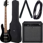 Harley Benton B-550 Black Progressive Set 1