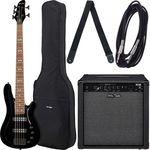 Harley Benton B-550 Black Progressive Set 1