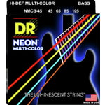 DR Strings Neon HiDef Multi-Color Bass 4