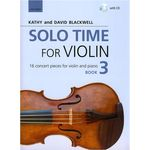 Oxford University Press Solo Time For Violin Book 3