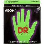DR Strings HiDef Green Neon Electric 9-46
