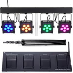 Stairville CLB8 Compact LED Bar 8 Bundle