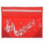 Music Sales Wavy Stave Music Bag (Red)
