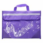 Music Sales Wavy Stave Music Bag (Purple)