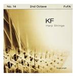 Bow Brand KF 2nd F Harp String No.14