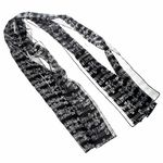 Musikboutique Hahn Scarf with Sheet Music Black