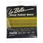 La Bella 760FGS DT'Bass Flat Gold Alloy