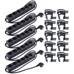 Stairville Snap black 10 pcs Bundle 6-way