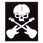Bandshop Sticker Skull Guitar