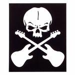 Bandshop Sticker Skull Guitar