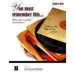 Universal Edition You Must Remember Clarinet