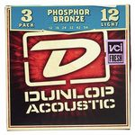 Dunlop Acoustic Light 012-054 3 Pack