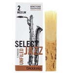 DAddario Woodwinds Select Jazz Unfiled Bariton 2M
