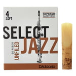 DAddario Woodwinds Select Jazz Unfiled Soprano 4S