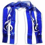 Anka Verlag Scarf G-Clef royal blue