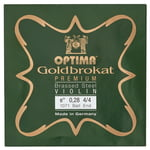 "Optima Goldbrokat Brassed e"" 0.28 BE"