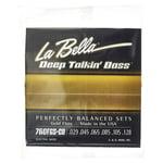La Bella 760FGS-CB DT Bass Gold Flats