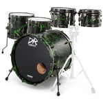 DR Customs Rock Set Black Green Splatter