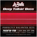 La Bella 760FX-TB Flatwound String Set