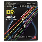 DR Strings Hi-Def Neon Multicolor 10-48