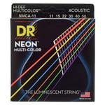 DR Strings Hi-Def Neon Multicolor 11-50