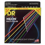 DR Strings Hi-Def Neon Multi 11-50 2-Pack