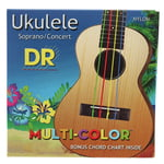 DR Strings Multi-Color UMCSC Ukulele