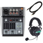Behringer Xenyx 302USB Headset Bundle