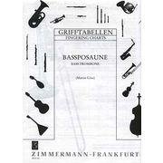 Zimmermann Verlag Grifftabelle für Bassposaune