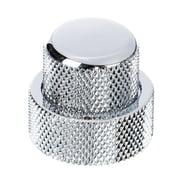 Allparts Stacked Pot Knob Set Chrome
