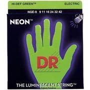 DR Strings HiDef Neon Green Lite NGE-9