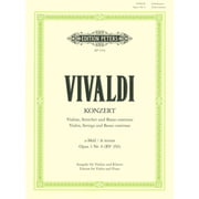 Edition Peters Vivaldi Concert a-moll op.3