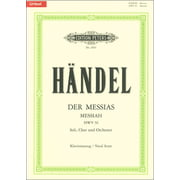 Edition Peters Händel Der Messias HWV56