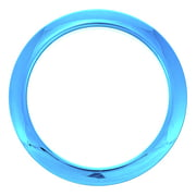 "Bass Drum O's 4"" Blue Chrome round HCB4"