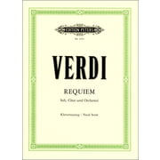 Edition Peters Verdi Missa De Requiem