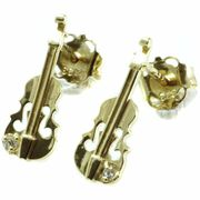 Rockys Stud Earrings Violin Gold