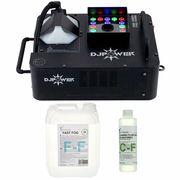 DJ Power DSK-1500V Fog Machine Bundle