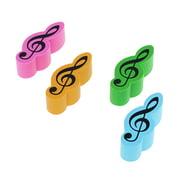 A-Gift-Republic Eraser Violin Clef 4er Set