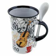 Music Sales Cappuccino Mug Violin White