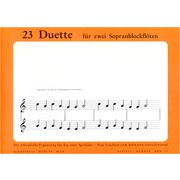 Meck Verlag  23 Duette f.2 Sopranblockfl.