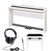Casio PX-160 WH Privia Deluxe Bundle